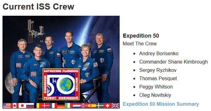 ARISS Amateur Radio International Space Station crew